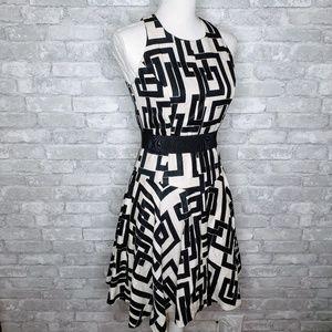 Milly Silk and Linen Sleeveless Midi Dress - 2